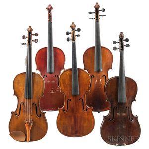 Five Violins.     Estimate $300-500