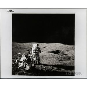 Apollo 14, Alan Shepard Beside the Modularized Equipment Transporter.