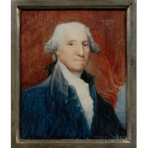 Italian School Portrait Miniature of George Washington