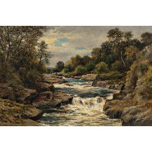 John Blake MacDonald (Scottish, 1829-1901)      River Landscape with Falls
