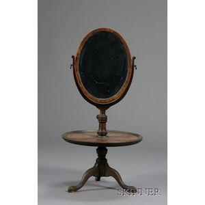 Mahogany and Mahogany Veneer Dressing Stand Mirror