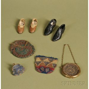Group of Doll Shoes and Purses