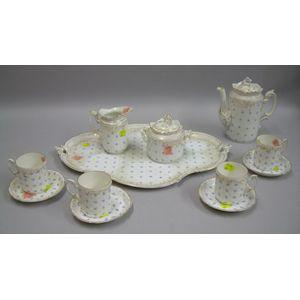 Twelve-piece Philip Rosenthal Porcelain Tea Service.