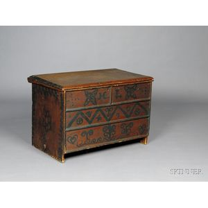 Paint-decorated Pine Chest