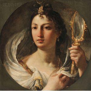 French School, 18th Century      Allegory of Vanity