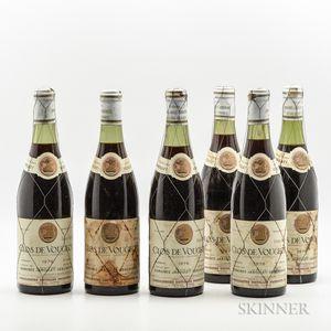 Jaboulet Vercherre Clos Vougeot 1976, 6 bottles