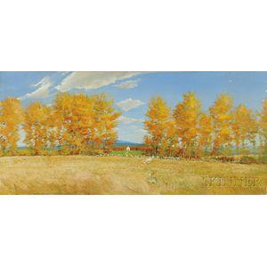Adam Cvijanovic (American, b. 1960)      Autumn Landscape