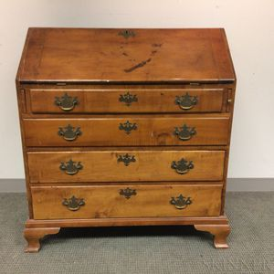 Chippendale Maple Slant-lid Desk