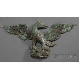 Molded Sheet Copper Wall-mounted Architectural Eagle Figure