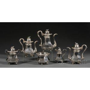American Empire Coin Silver Six-piece Tea and Coffee Service