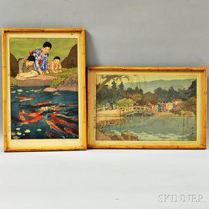 Two Framed Hiroshi Yoshida Woodblock Prints