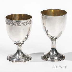 Two George III Sterling Silver Goblets