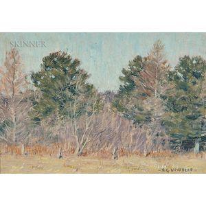 Clark Greenwood Voorhees (American, 1871-1933)      Autumn Landscape