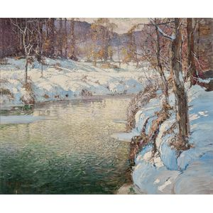 George Ames Aldrich (American, 1872-1941)      River in Winter