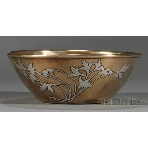 Art Metal Studios Sterling Overlay Bronze Bowl