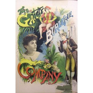 Poster, The Gaiety Burlesque Company