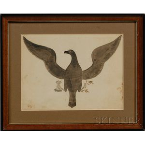 Attributed to Zachariah Reynolds (Washington County, Pennsylvania, 19th Century)      Federal Eagle with Arrows and Olive Branch.