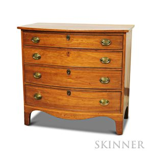 Federal Inlaid Cherry Bowfront Chest of Drawers