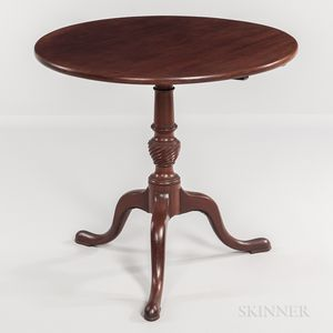 Carved Mahogany Tilt-top Tea Table