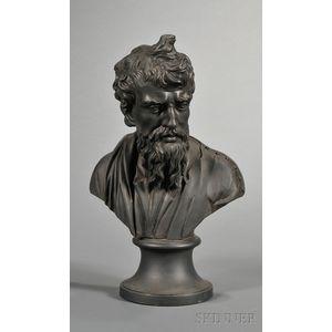 Wedgwood Black Basalt Bust of Plato