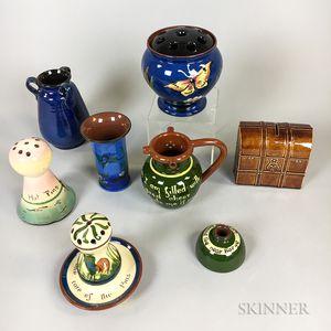 Eight Torquay Pottery Items