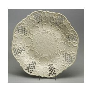 Staffordshire White Salt Glazed Stoneware Dish
