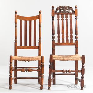 Two Early Turned Side Chairs
