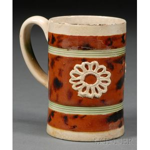 Mochaware Mug with Applied Sprig Devices