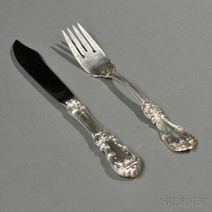 Twenty Pieces of Reed & Barton Burgundy   Pattern Sterling Silver Flatware
