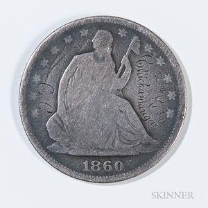 Inscribed Seated Liberty Half Dollar