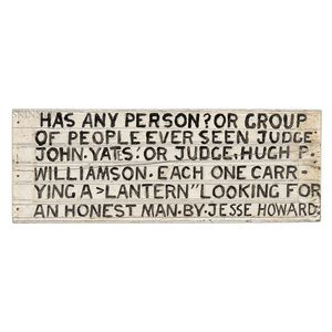 Jesse Howard (American, 1885-1983)      HAS ANY PERSON?...