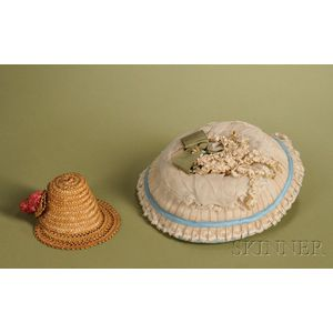 Two Straw Doll Hats