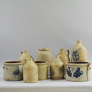 Nine Stoneware Vessels