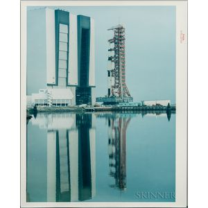 Apollo 15, Roll Out, and On Pad, Two Images.