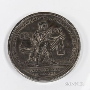 Tiffany & Co. National Society of the Sons of the American Revolution Silver Award Medal