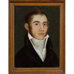 Attributed to Benjamin Greenleaf (Massachusetts, 1786-1864)    Portrait of Samuel Bundy.