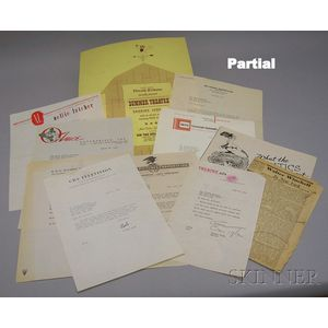 Collection of Mid-20th Century Show Business, Theater, Broadcasting, and Advertising   Related Correspondence on Letterhead