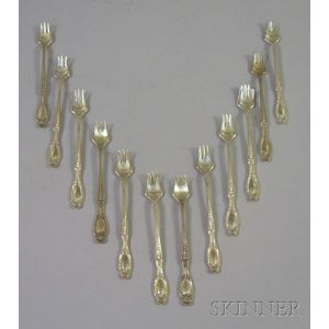 Twelve Tiffany Richelieu Pattern Sterling Silver Hors D
