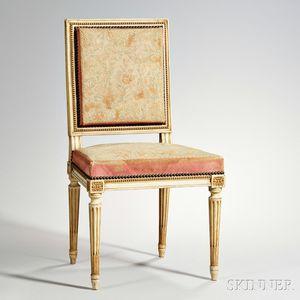 Louis XVI-style Parcel-gilt Chair