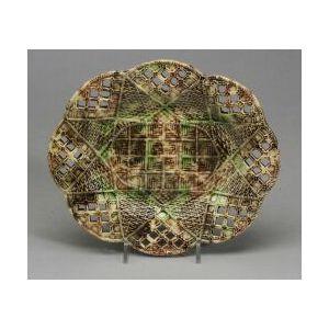 Staffordshire Lead Glazed Creamware Oval Platter