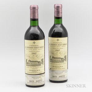 Chateau La Mission Haut Brion 1967, 2 bottles