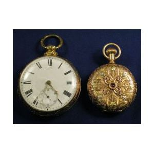Two 14kt Gold Pocket Watches, H.E. Hillmann & Co., J &W Moir