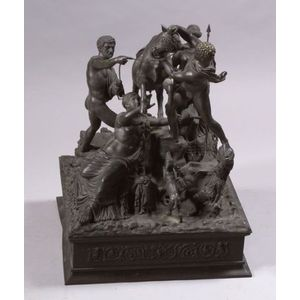 "Large Italian ""Grand Tour"" Bronze Figure of ""The Farnese Bull,"""