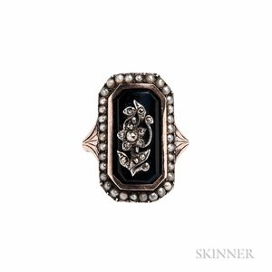 Antique Gold and Enamel Sentimental Ring