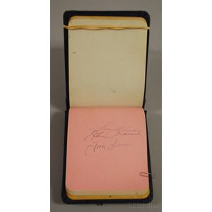 National League Baseball Player Signed Autograph Book