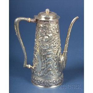 Tiffany & Co. Sterling Repousse Demitasse Pot
