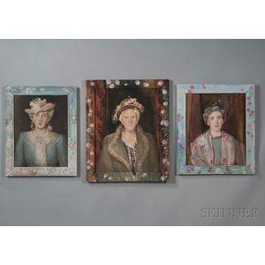 Josephine Paddock (American, 1885-1964)      Three New York Ladies