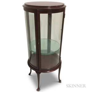 French-style Glazed Mahogany Curio Cabinet