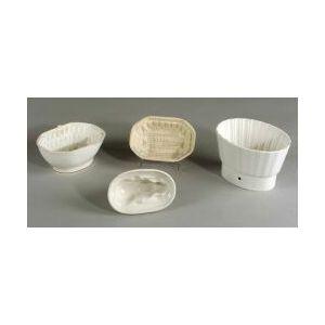 Group of Ten White Earthenware Kitchen Molds