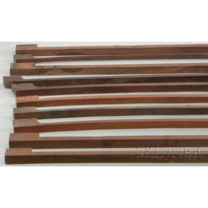 Ten Pernambuco Violin Bow Blanks
